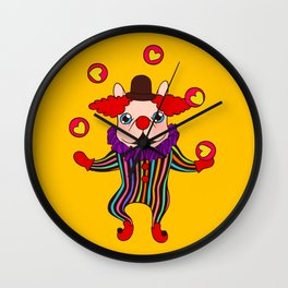 Clown Dog Frenchie entertains you with love and cuteness Wall Clock