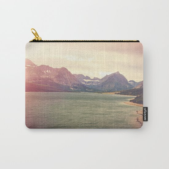 Retro Mountain Lake Carry-All Pouch
