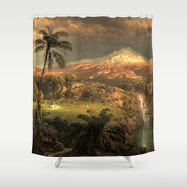 Passing Shower in the Tropics by Frederic Edwin Church Shower Curtain
