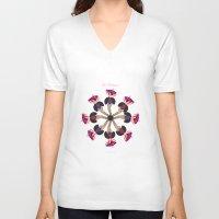 burlesque V-neck T-shirts featuring Love Burlesque! by Sabi Koz