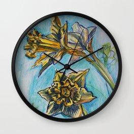 Daffodil sketch Wall Clock