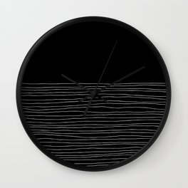 Hand Striped black and white Wall Clock