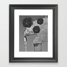 Icosahedron Invasion Framed Art Print
