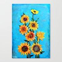 sunshine Canvas Prints featuring SUNSHINE by Jordan Soliz