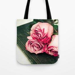 Rose Book Tote Bag