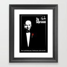 The Sopranos (The Godfather mashup) Framed Art Print
