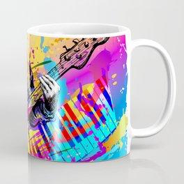 Musician guitar player. Jazz rock music festival concert Coffee Mug