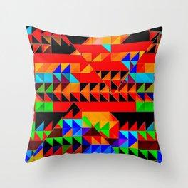 Aztec Pyramid Inspired Design Throw Pillow