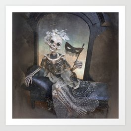 Catrina in Waiting Skeleton Large Format Art Print