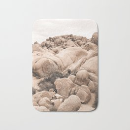California Joshua Tree National Park Rock Formations Bath Mat