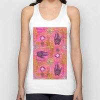 hands Tank Tops featuring Hands by LebensART