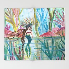Underwater Garden Throw Blanket