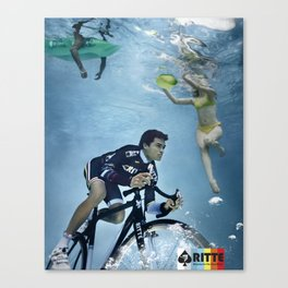 Ritte Unsuspecting Swimmers Canvas Print