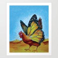 Chickerfly Art Print