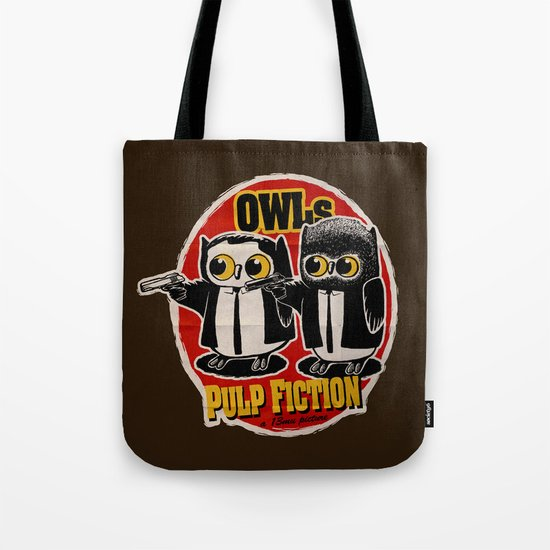 Owls Pulp Fiction Tote Bag