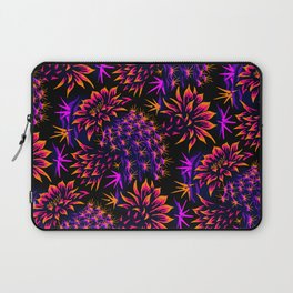 Cactus Floral - Bright Purple/Orange Laptop Sleeve