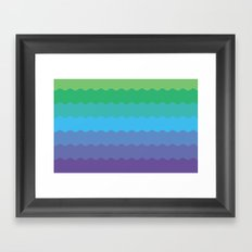 Waves 1 Framed Art Print