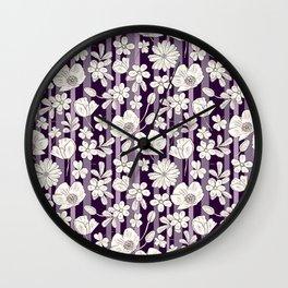 Purple field Wall Clock