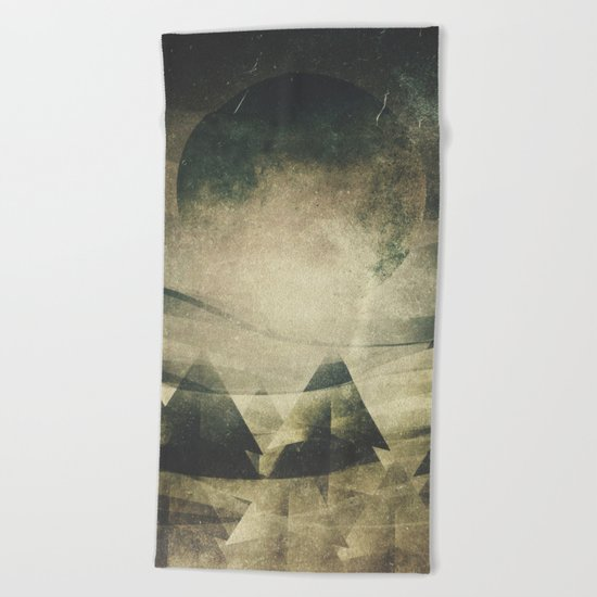 We are children of the moon Beach Towel