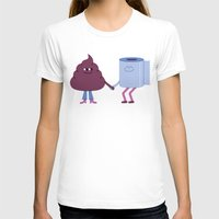 toilet T-shirts featuring SBF: Poop & Toilet Paper by Mauro Gatti