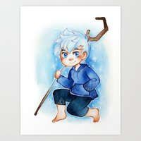 jack frost Art Prints featuring Jack Frost by noCek