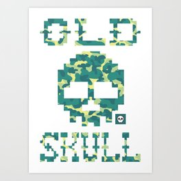 Old Skull Light Military (Militar Claro) Art Print