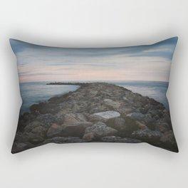 The Jetty at Sunset - Landscape Rectangular Pillow
