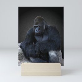 Portrait Of A Male Gorilla Mini Art Print