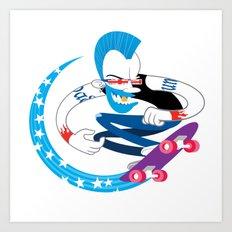 Skater Punk Art Print