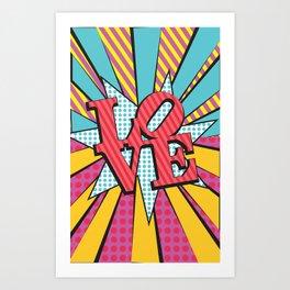 love pop art Art Print