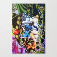 vegetable Canvas Prints featuring Vegetable Gremlin by John Turck