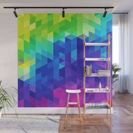 Abstract LGBT Pattern Wall Mural