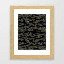 Tiger Camo Framed Art Print