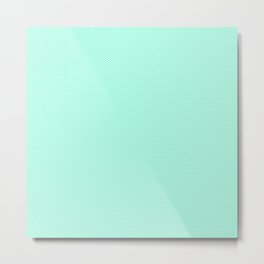 Chevron Mint Green Print Metal Print