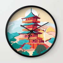 Japanese Castle Wall Clock