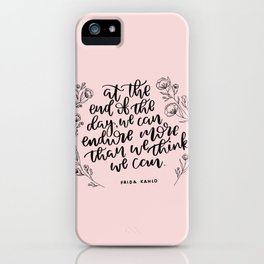 INSPIRATION FROM THE LADY WITH THE FAB EYEBROWS iPhone Case