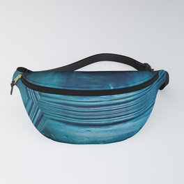 Blue crystal ball geometrical 3D art Fanny Pack