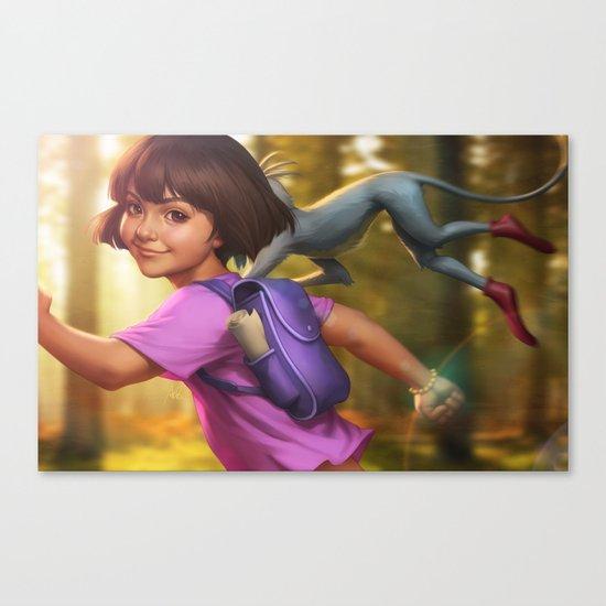 The Little Explorer Canvas Print