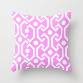 Ethnic Pattern (Pink) Throw Pillow