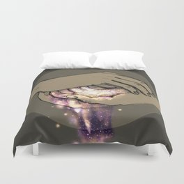 Hand Galaxy Duvet Cover