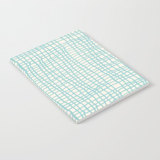 Blue Scribbles Pattern 06 Notebook