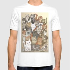 1000 cats MEDIUM White Mens Fitted Tee