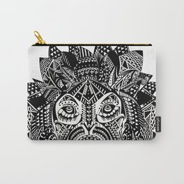 Tribal Inspired Lion ink illustration Carry-All Pouch