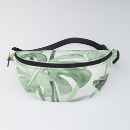 Delicate Monstera Green #society6 Fanny Pack