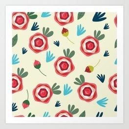 Roses pattern Art Print