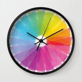Geometric rainbow Wall Clock