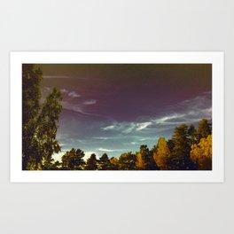 Wave Clouds Art Print