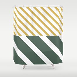 Forest x Stripes Shower Curtain