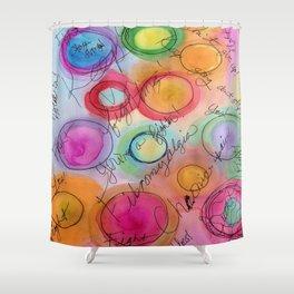 Fibromyalgia Awareness Shower Curtain