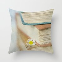 read Throw Pillows featuring Read by Debbie Wibowo
